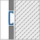 Aluminium Flat Wide Listello Profile For Walls,2.5m