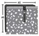 45x40mm Aluminium Step Edging Profile