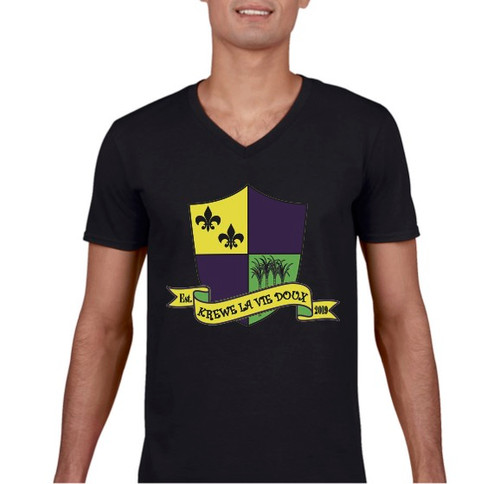 Krewe La Vie Doux Unisex V-Neck Short Sleeve T-Shirt