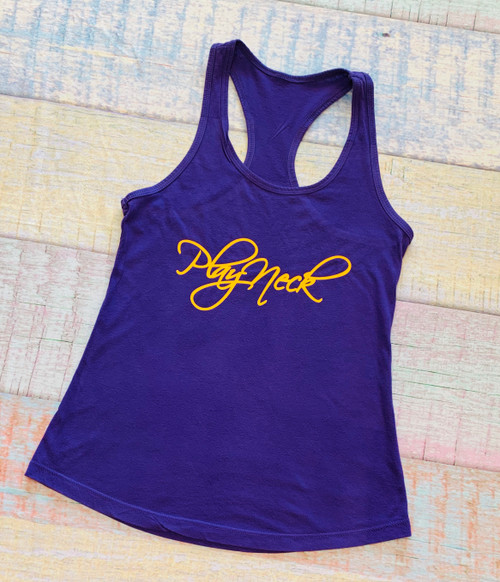 Purple and Gold Racerback - Play Neck