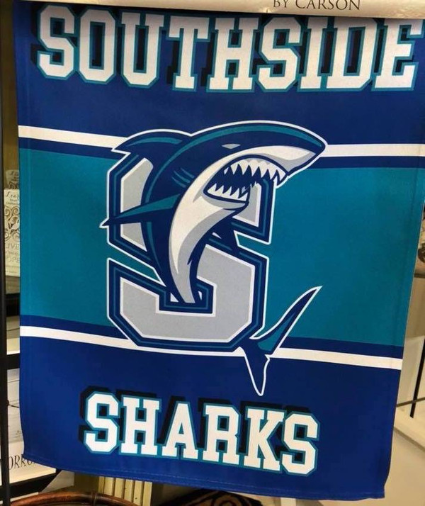 Southside Sharks Garden Flag