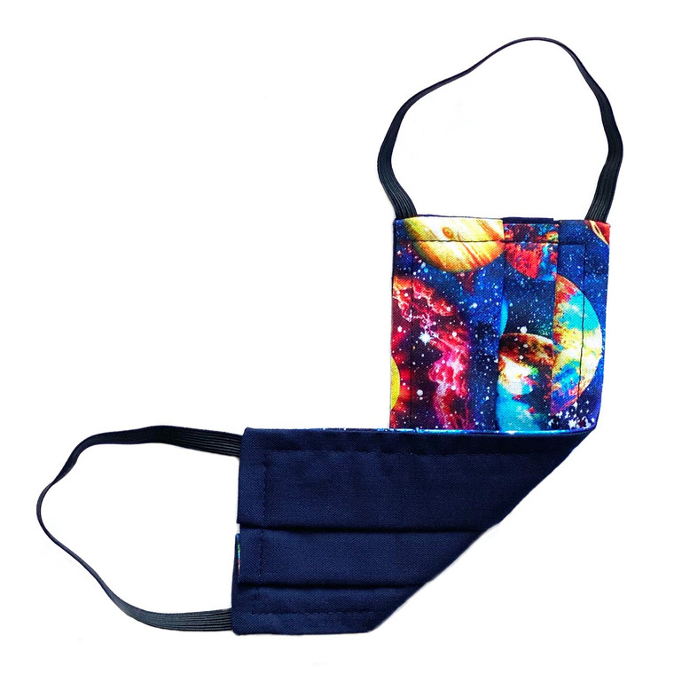 kid's (S) reversible face mask- GALAXY