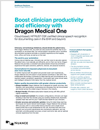 Dragon Medical One brochure icon