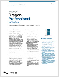 Dragon Professional Individual brochure icon