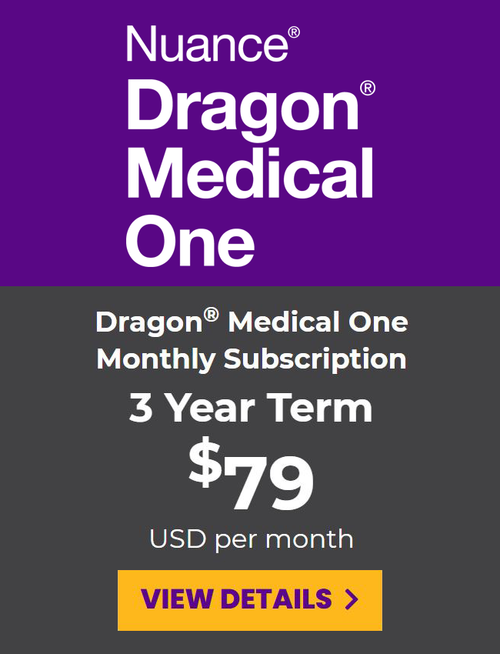 Dragon Medical One Monthly Subscription - 3 Year Term