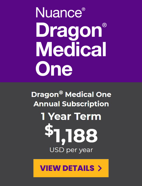 Dragon Medical One Prepaid Subscription - 1 Year Term