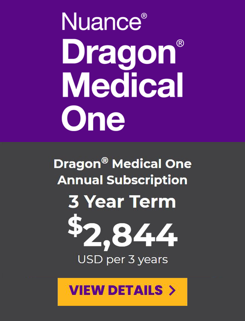 Dragon Medical One Prepaid Subscription - 3 Year Term
