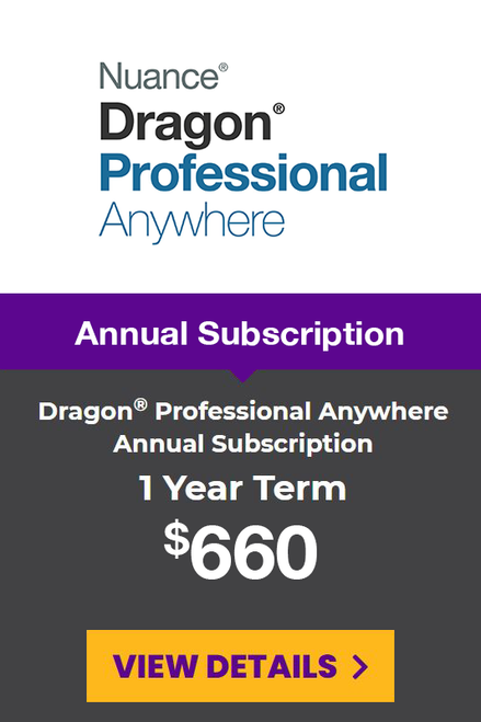 Dragon® Professional Anywhere Yearly Subscription - 1 Year Term