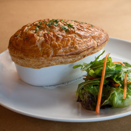 Frenchies fish pie with petite salad