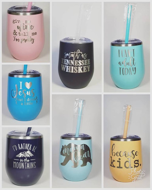 Engraved Wine Tumblers