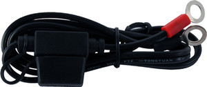 """Motobatt 21"""" 18AWG Cable Lead with 7.5A Fuse and Ring Terminals"""