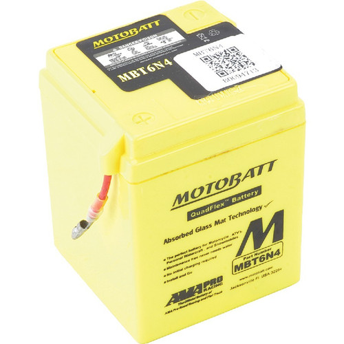 Motobatt MBT6N4 4Ah Battery