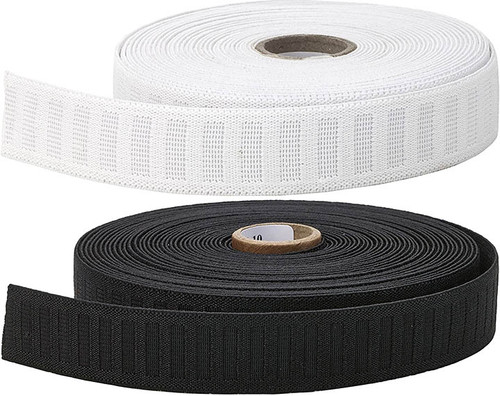 "1"" non roll elastic available in White or Black"