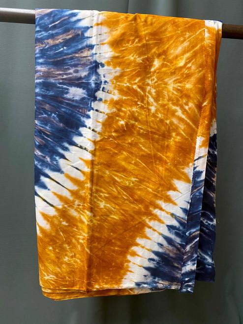 African Print #25 Tie Dye Rust Blue
