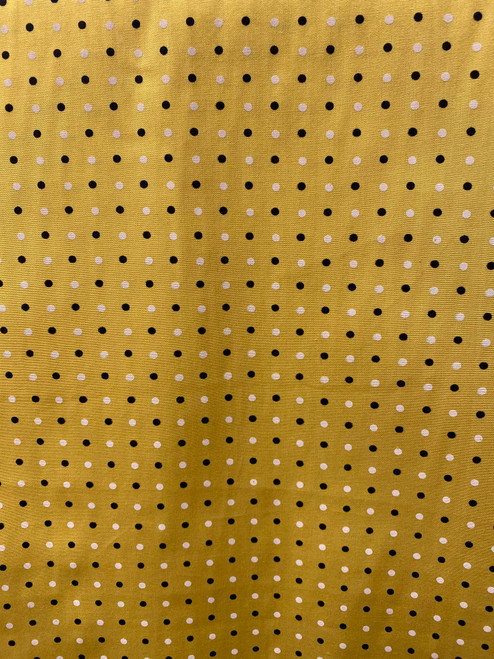 "60"" Yellow Polka Dot Cotton"