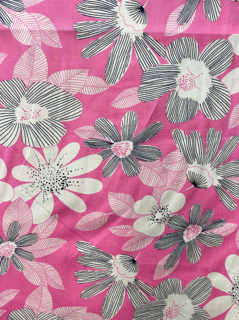 "60"" Pink & Grey Blossom Cotton"