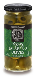 Sable & Rosenfeld All Natural Tipsy Vodka Jalapeno Olives 5 oz