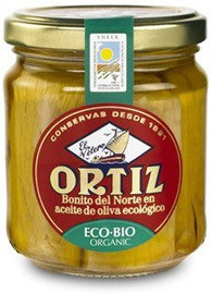 Ortiz White Tuna in Organic Extra Virgin Olive Oil Glass Jar 6.7 oz