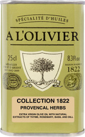 A L'Olivier Olive Oil Infused with Herbs of Provence 8.3 oz Green Tin