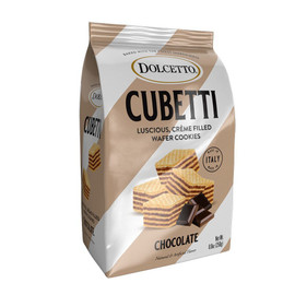 Fusion Gourmet:Dolcetto-Cubetti Wafer Cookie Bag:Chocolate 8.8oz