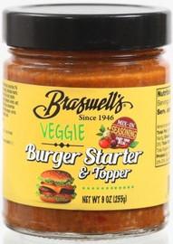 Braswell's Veggie Burger Starter 9.0oz Case