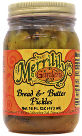 Merrilily Gardens Kickin' Bread and Butter Pickles 16 oz
