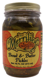 Merrilily Gardens Bread and Butter Pickles 16 oz