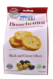 Asturi Black & Green Olives Bruschettini 4.23oz