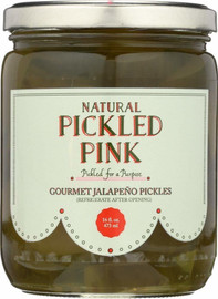 Pickled Pink Gourmet Jalapeno Pickles 16oz