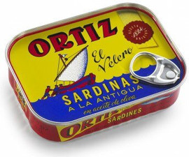 Ortiz Sardines in Olive Oil A La Antigua 'Old Style tin 20/140g