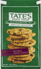 Tate's Bake Shop Oatmeal Raisin Cookies 7oz Bag