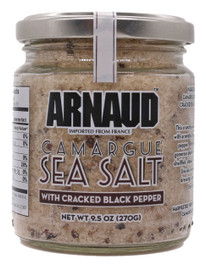 Arnaud Camargue Sea Salt w/ Cracked Black Pepper 9.5oz