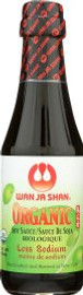 Wan Ja Shan Organic Tamari Sauce Less Sodium with Spout 6.7oz