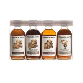 Runamok Smoke & Barrels Collection - One 60ml bottle of each: Bourbon, Rye, Rum, Pecan Wood Smoked cs