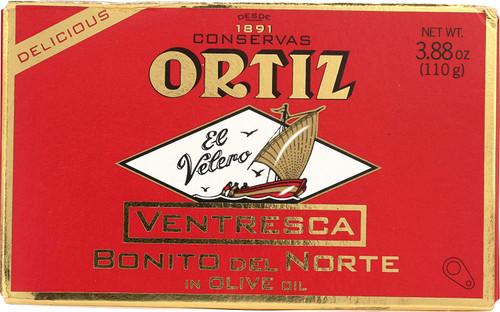 Ortiz 'Ventresca' White Tuna Belly in Olive Oil Oval Tin in a Box 110g