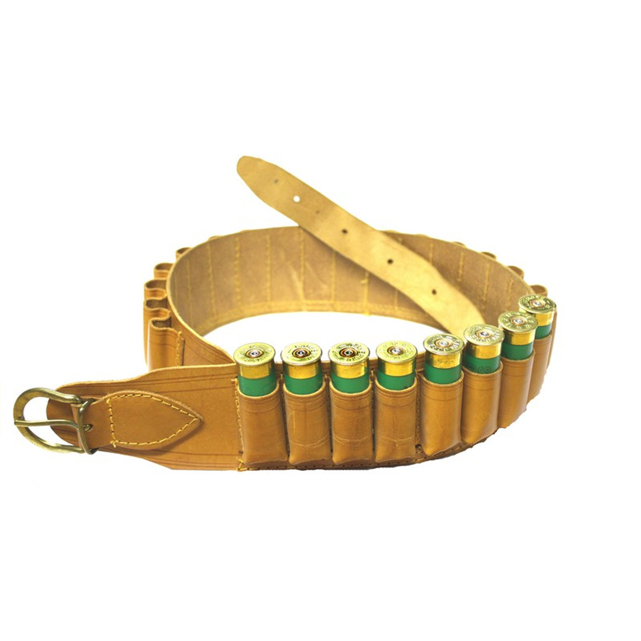 Natural Leather Cartridge Belt 20G