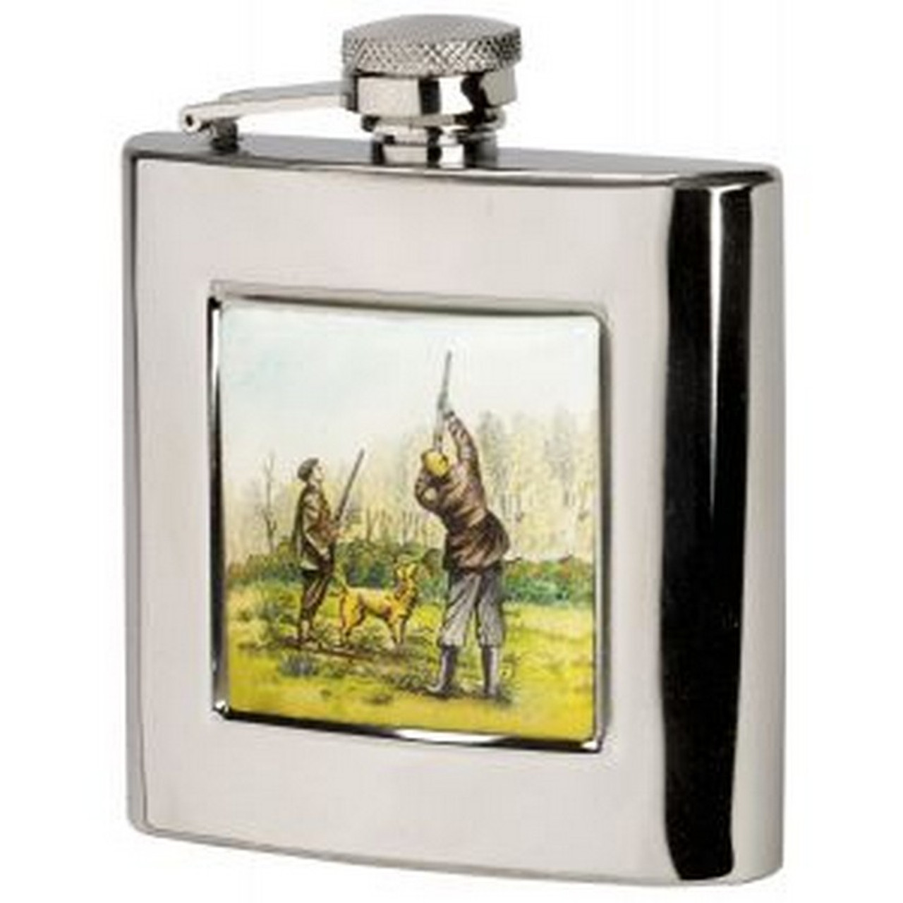 square shooting design hip flask, Gift