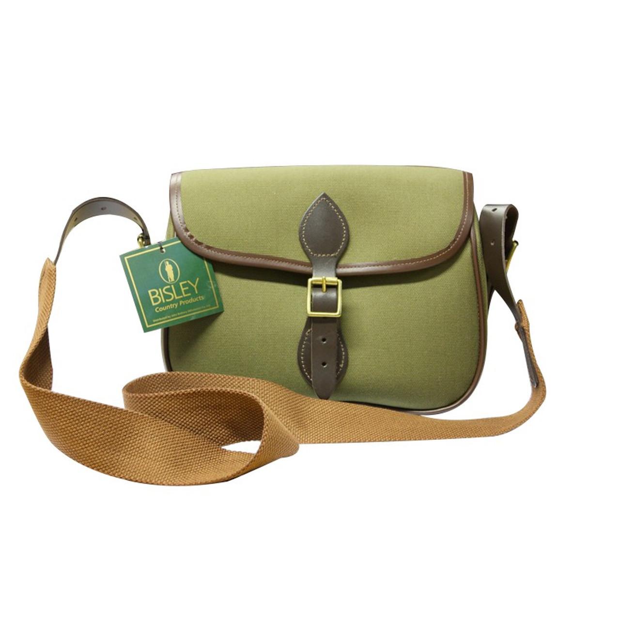 BISLEY FOX canvas game bag QUALITY leather//brass fittings shooting hunting bag