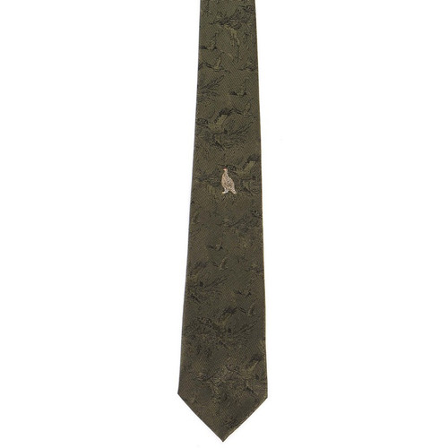 Polyester Grouse Tie - Green