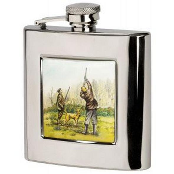 square shooting design hip flask, Gift