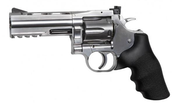 "ASG Dan Wesson 715 4"" Silver Pellet CO2 Revolver"
