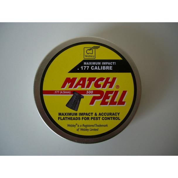 Best price for Webley Matchpell .177 Pellets, on sale at Bradford Stalker