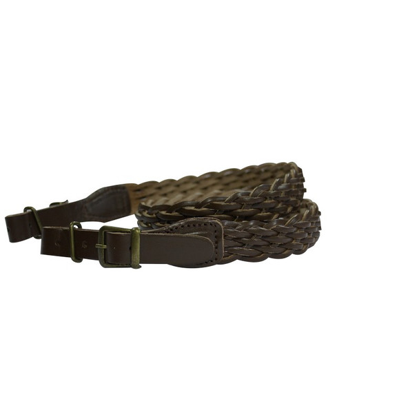 Plaited Leather Rifle Sling