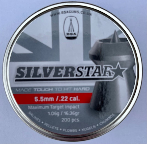 BSA Silverstar 5.5mm / .22 pellets