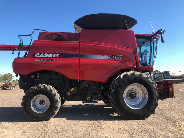 CASE IH 7140 2015 Model Combine and D65 Front