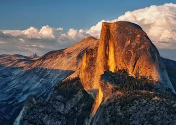 Yosemite Nat Park, Half Dome - Postcard