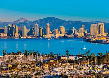 San Diego Skyline - Postcard