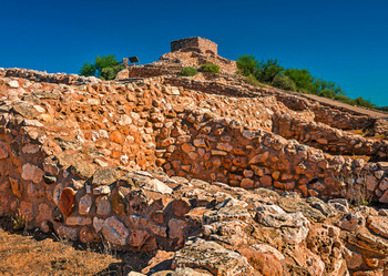 Tuzigoot National Monument - Postcard