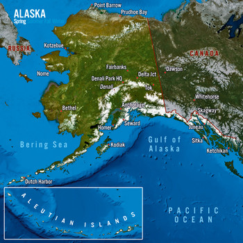 Alaska map seasons Maxi Card