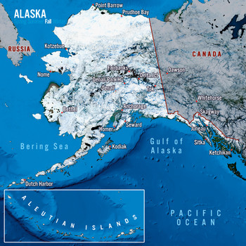 Alaska map seasons - Maxi Card